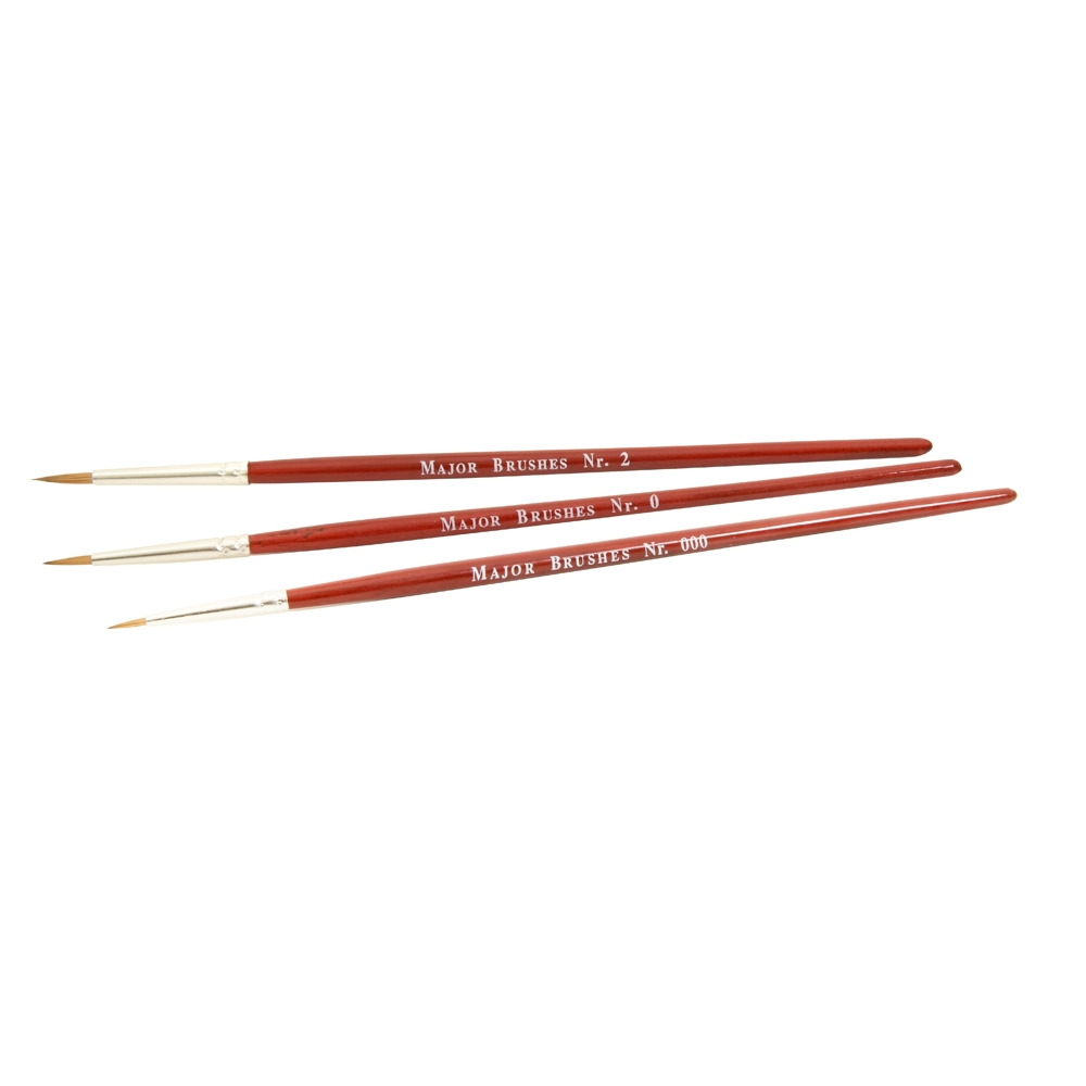 Three Paint Brushes (Sizes 000, 0 & 2)