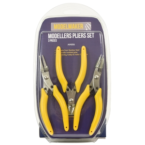 Modellers Pliers Set (3 Pcs - Snipe, Flat & Side Cutter)
