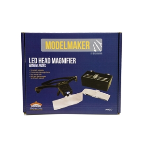 LED Head Magnifier with 5 Lenses