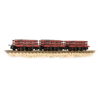 Slate Wagons 3-Pack Red with Slate Load [WL]