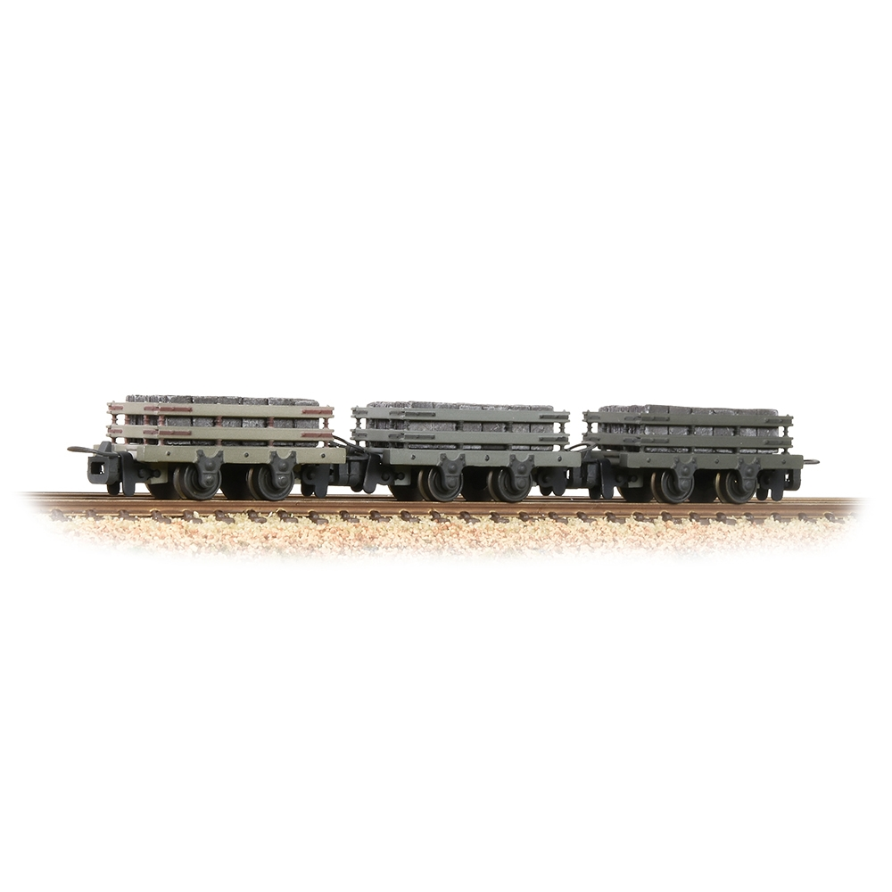 Slate Wagons 3-Pack Grey With Slate Load [W] [WL]