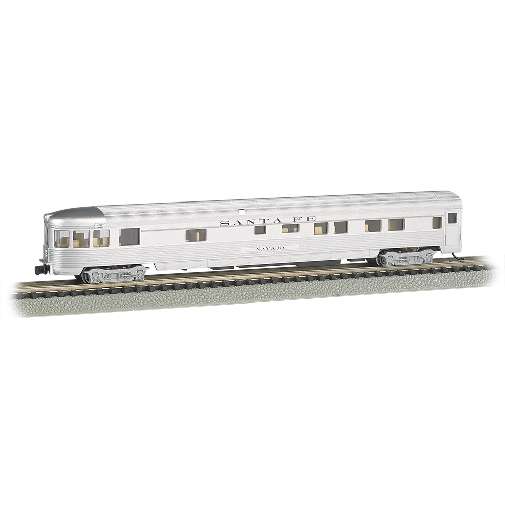 85' Streamline Fluted Observation Car - Santa Fe (Lighted)