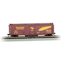 50' Plug-Door Track Cleaning Box Car - Western Pacific