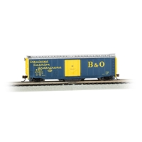 50' Plug-Door Track Cleaning Box Car - B&O (Blue & Yellow)