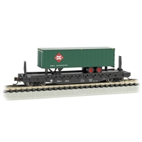 52'6' Flat Car - Baltimore & Ohio with REA EXPRESS Trailer
