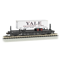 "52'6"" Flat Car Atlantic Coast Line with Yale Trailer"