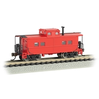 Northeast Steel Caboose - Painted, Unlettered - Caboose - Red