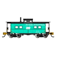 Northeast Steel Caboose Penn Central-Jade Grn With Blk Roof