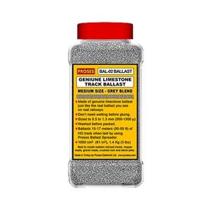1.4 Kg (3 lbs) Authentic Limestone Ballast N-Scale (Grey Ble