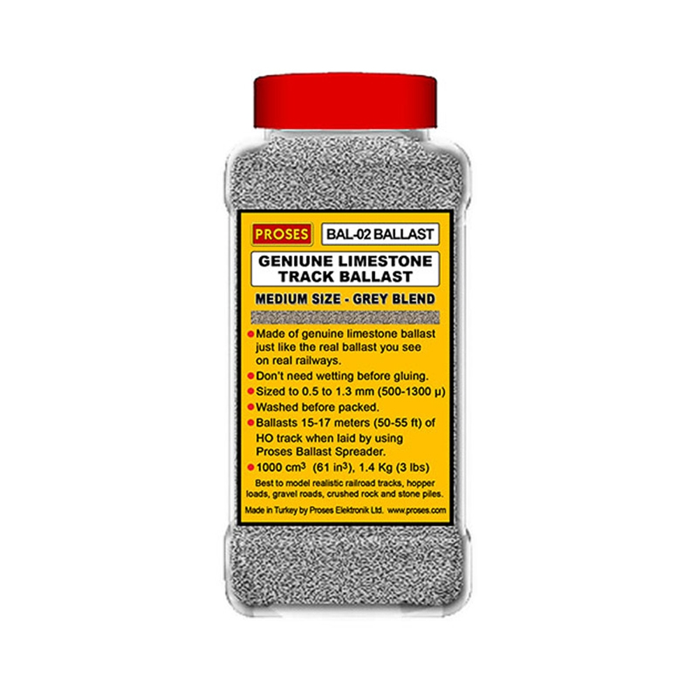 1.4 Kg (3 lbs) Authentic Limestone Ballast O-Scale (Grey Ble