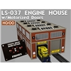 HO/OO Scale Modern Engine House Kit w/Motorised Doors and Li
