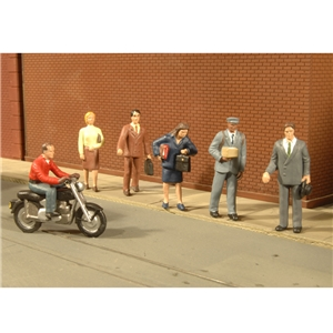 City People with Motorcycle (7/Pack)