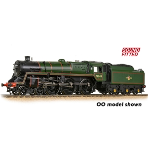 BR Standard 5MT with BR1 Tender 73049 BR Lined Green (Late Crest)