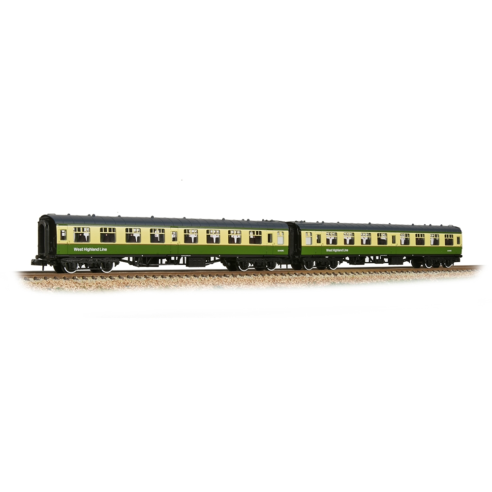 374-994 BR Mk1 TSO 2-Coach Pack BR West Highland Line Green & Cream