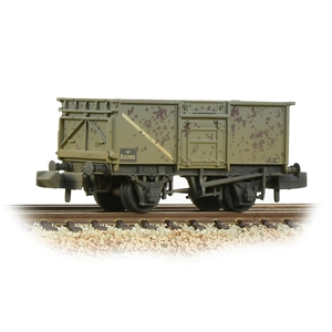 BR 16T Steel Mineral Wagon with Top Flap Doors BR Grey (Early)