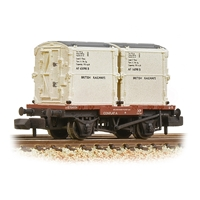 Conflat Wagon BR Bauxite (Early) with 2 BR White AF Containers