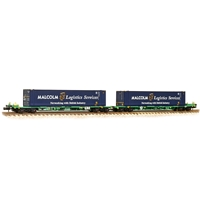 FIA Intermodal Bogie Wagons With 'Malcolm Logistics' 45ft Containers
