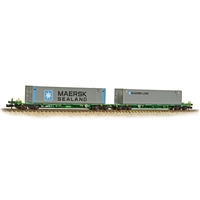FIA Intermodal Bogie Wagons With 'Maersk line' 45ft Containers