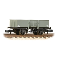 LNER 13T Steel Open with Smooth Sides Wooden Door BR Grey (Early)