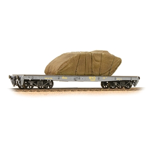 WD 40T 'Parrot' Bogie Wagon WD Grey With Sheeted Tank