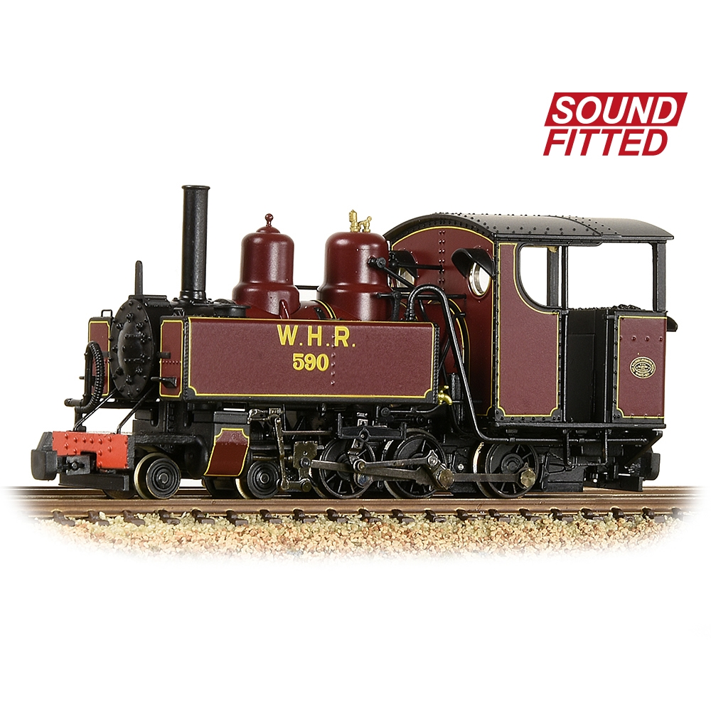 391-031DS Baldwin 10-12-D Tank 590 Welsh Highland Railway Lined Maroon