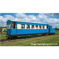 Gloucester Bogie Coach Lincolnshire Coast L. R. Blue & Cream