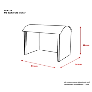 44-0158 OO Scale Field Shelter