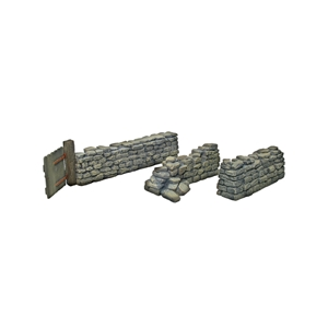 Stonewall with Gate & Two Straight Sections - 3 Piece Set