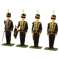 British 7th Hussars - 4 Piece Set with Certificate