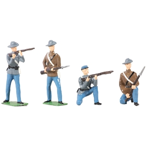 American Civil War Confederate Infantry Set - 4 Piece Set