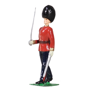 British Scots Guards Officer Marching