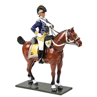 British 10th Light Dragoons Officer Mounted, 1795