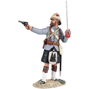 British 42nd Highlander Officer Firing Pistol