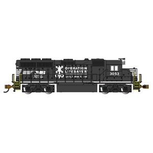 EMD GP40 - Norfolk Southern Op Lifesaver#3053 (With DB)
