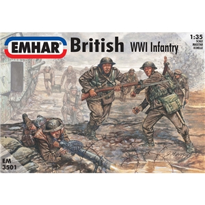 British Tank Crew & Infantry WWI Figures
