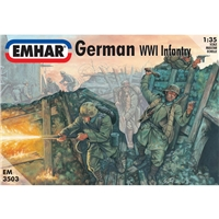 German Tank Crew & Infantry WWI Figures