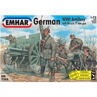 German Artillery WWI Figs & Cannon