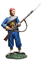 Union Infantry 146th NY Zouave Reaching for Cap