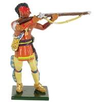 Native American Warrior, Huron, Standing Firing №2