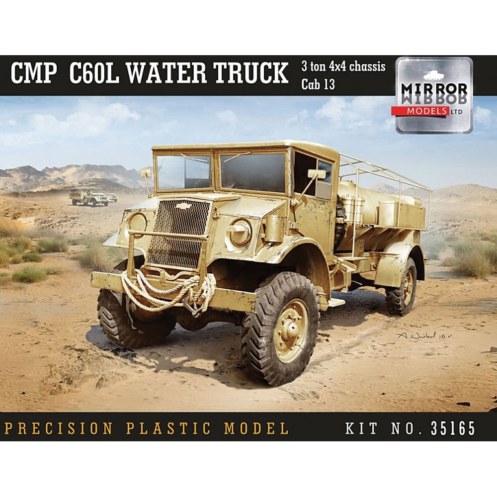 CMP C60L Water Truck, 3 ton 4x4 chassis, Cab 13