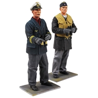"""On Watch"" - German U-Boat Crewman & Captain - 2 Piece Set"