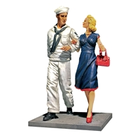 Shore Leave - U.S.N. Sailor on Liberty with Date, 1942-45