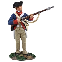 Continental Army 1st American Regiment Standing At Ready
