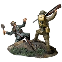 """Overrun"" - 1917-1918 US Infantry Bayoneting German Infantry"