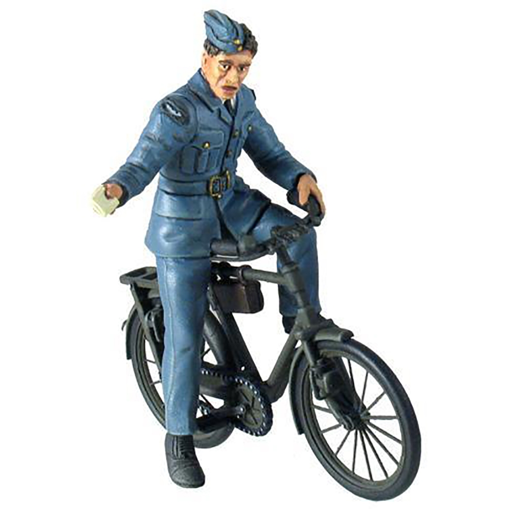 RAF Ground Crewman on Bicycle - 2 Piece Set
