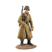 U.S. Airborne Infantry in Overcoat, Winter, 1944-45 №1