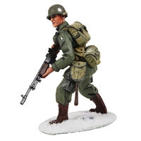 U.S. 101st Airborne Infantry Advancing, Winter 1944-45