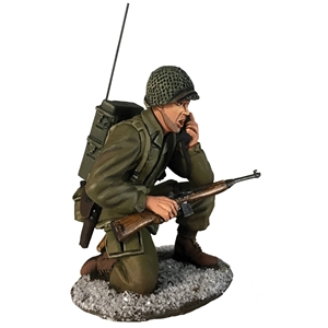 US 101st Airborne in M-43 Jacket & SCR300 Radio, Winter, 1944-45