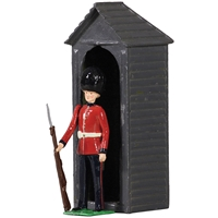 British Scots Guardsman with Sentry Box