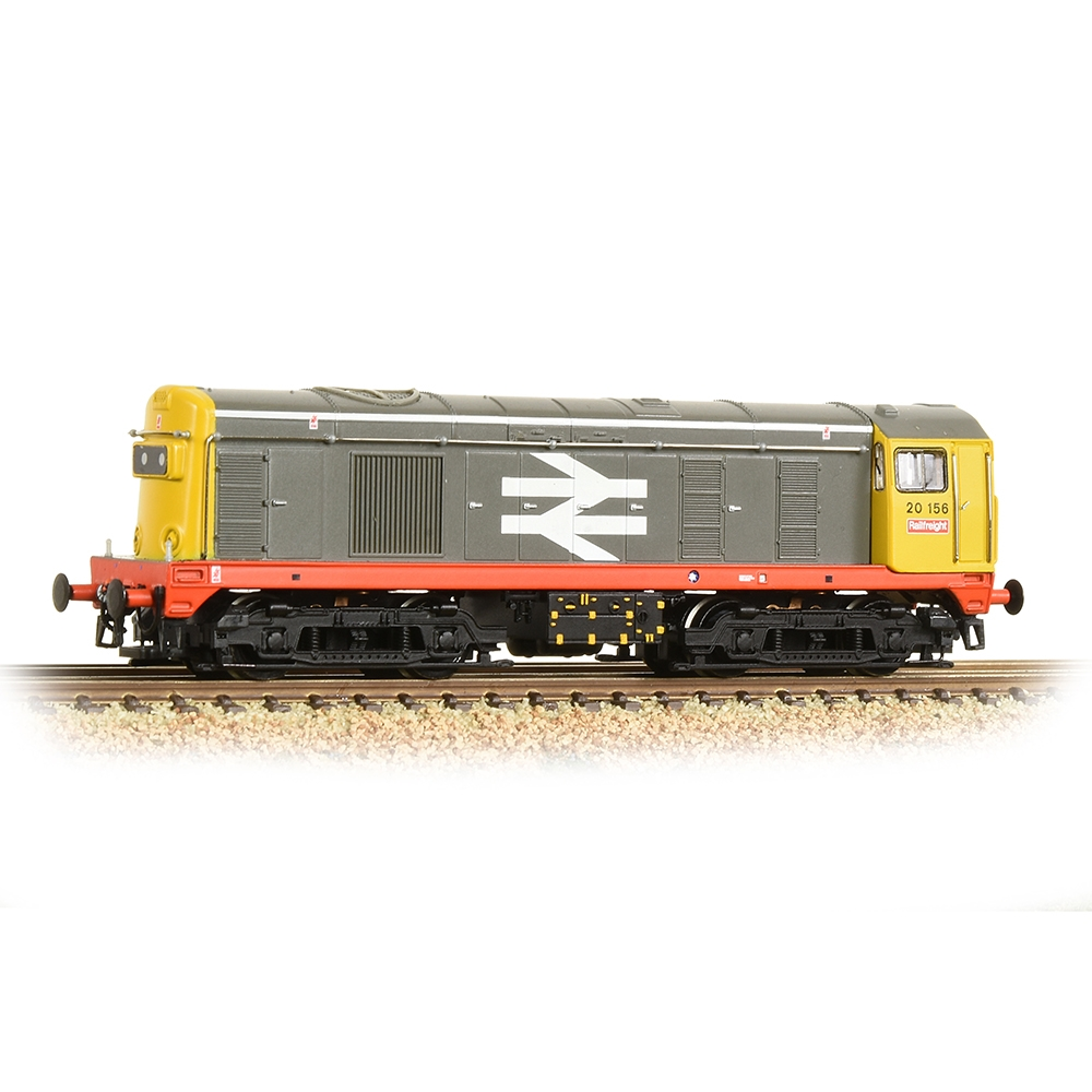 Bachmann Branchline OO Scale Class 20/0 Headcode Box 20156 BR Railfreight (Red Stripe)
